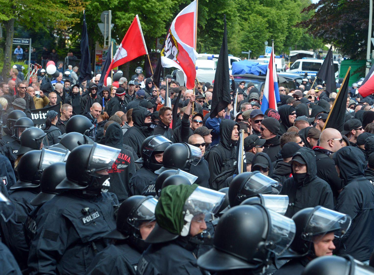 Nazi Demo Hamburg 2021