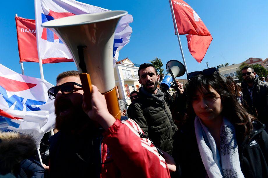 """""""Es wird hier kein Lager geben"""": Proteste in Mytileni, der Hauptstadt von Lesbos"""