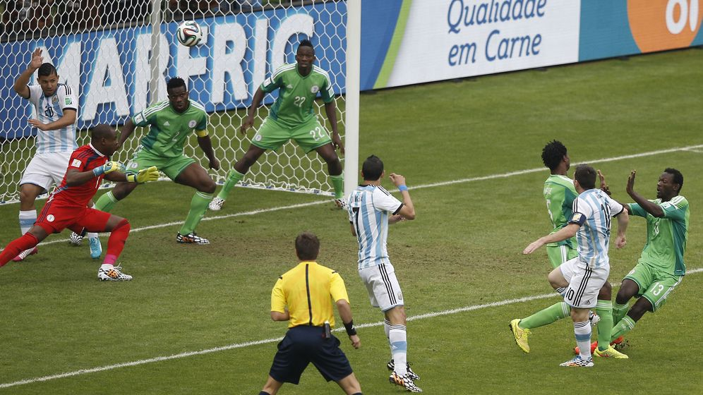 Nigeria vs. Argentinien: Doppelter Doppelpack