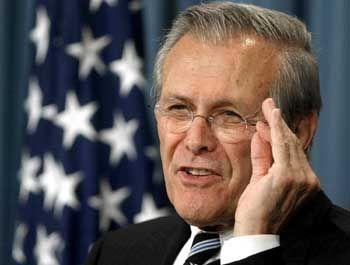 Donald Rumsfeld: 1983 und 1984 in freundlicher Mission in Bagdad