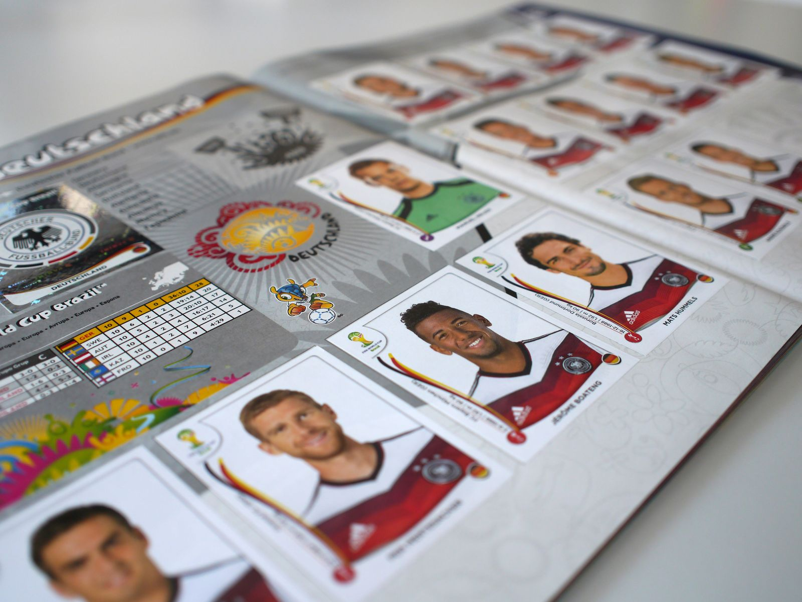 Panini-Sticker/ Fussball