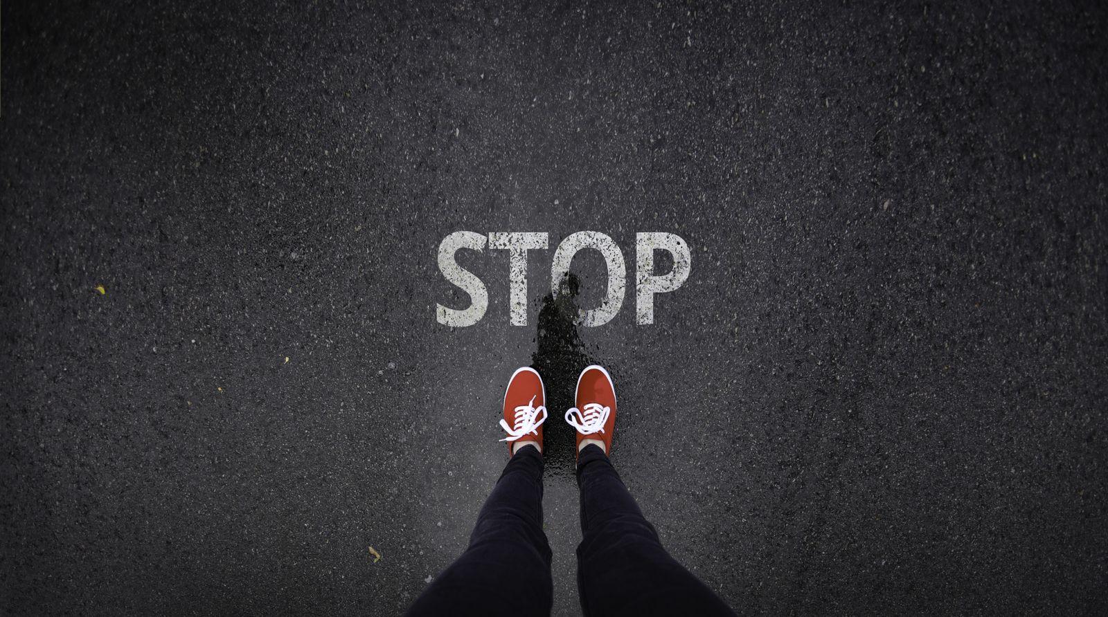 EINMALIGE VERWENDUNG Stop