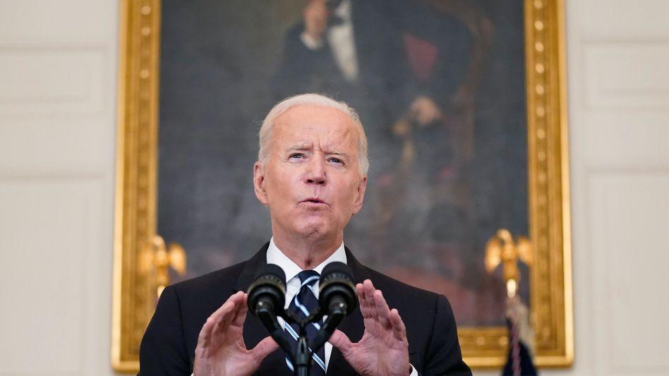 Mit den neuen Maßnahmen will Biden gegen die sich schnell ausbreitende Delta-Variante ankämpfen