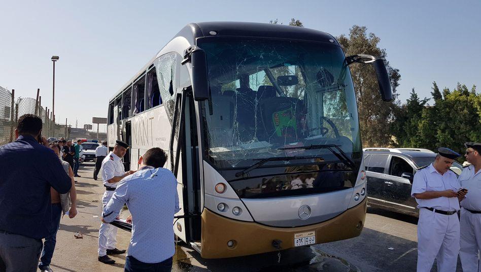 Angegriffener Bus in Kairo: Die meisten Opfer waren offenbar Touristen aus Südafrika