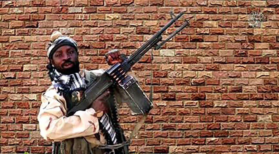 Boko-Haram-Anführer Abubakar Shekau in einem Propagandavideo