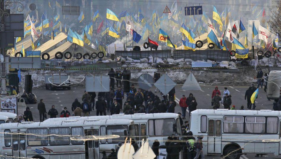 Proteste in Kiew: Hausarrest für den Bürgermeister