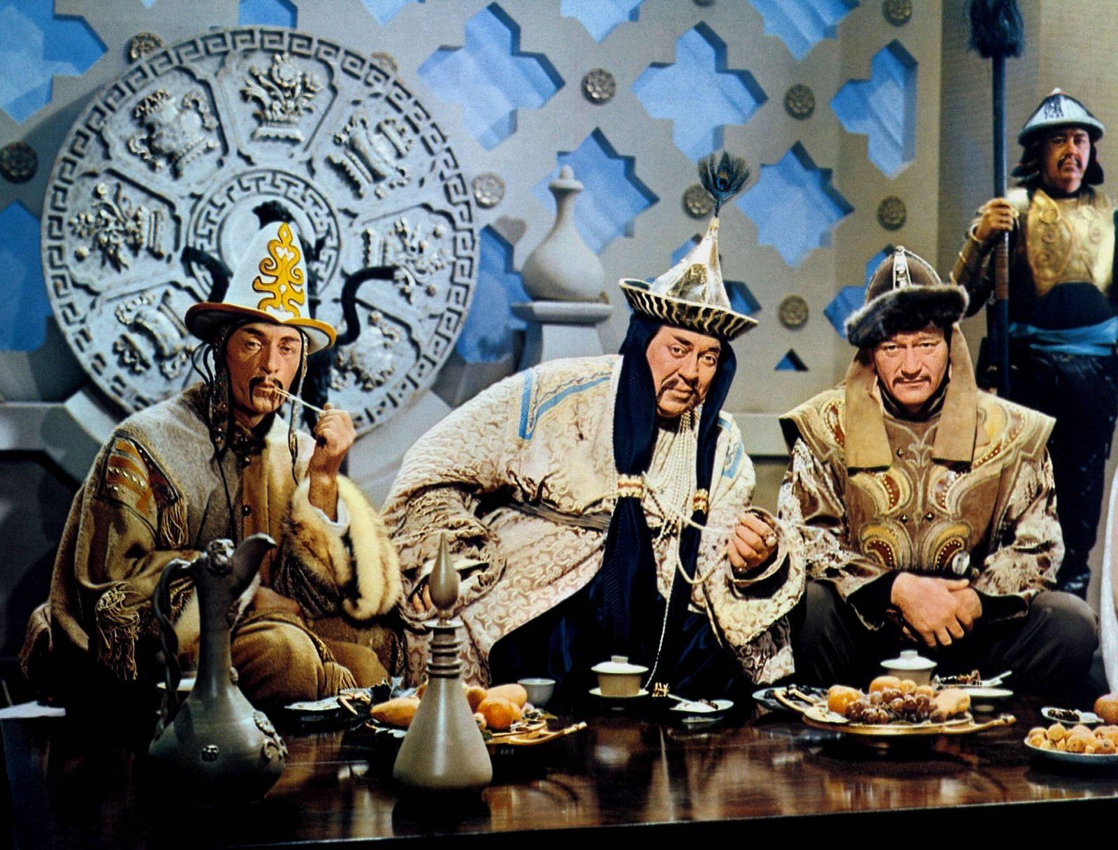 Scene With John Wayne Characters: WITH Temujin, later Genghis Khan Film: The Conqueror (1956) Director: Dick Powell 21 F