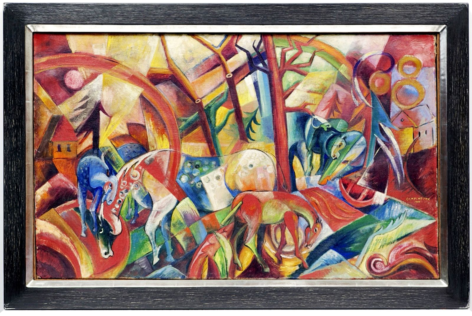 DER SPIEGEL 10/2012 pp 126 SPIN / Beltracchi / Rotes Bild mit Pferden