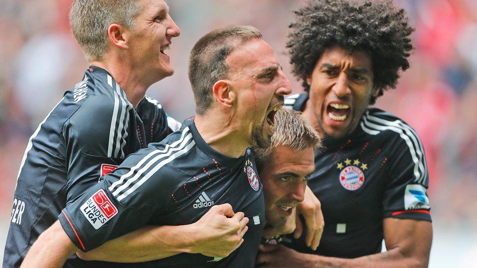 Bayern-Spieler Schweinsteiger, Ribery, Lahm, Dante: Das Ziel vor Augen