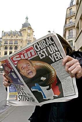 "Chirac als Wurm: Kriegstreiberei in ""The Sun"""