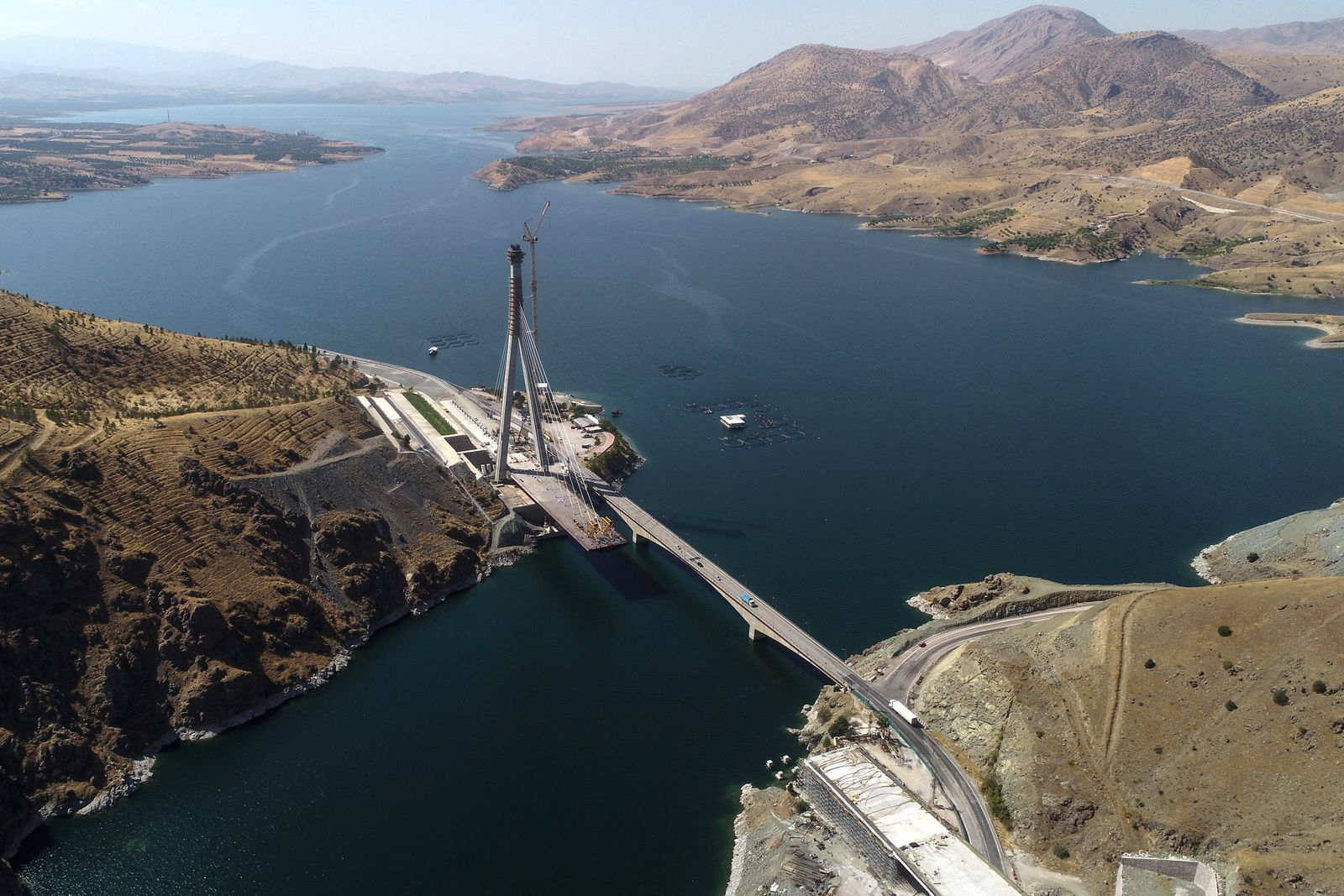 Komurhan Bridge and tunnel project in Turkey's Elazig