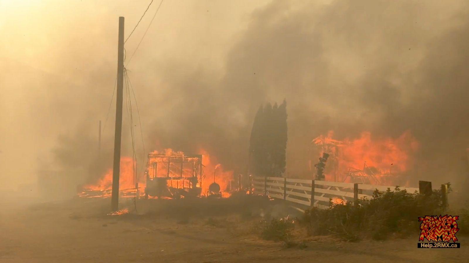 Wildfire in Lytton, British Columbia