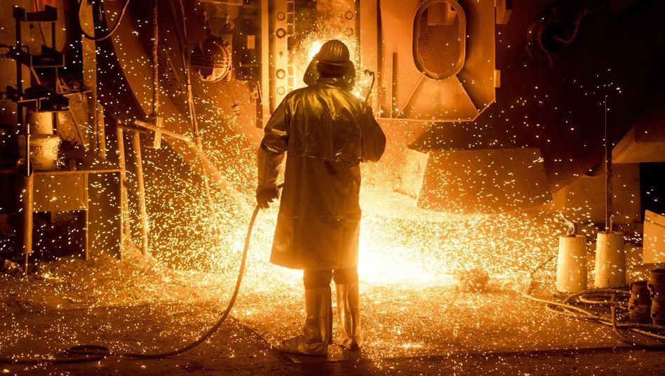 Stahlarbeiter in Salzgitter