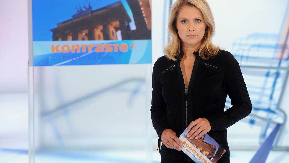 """ARD-Sendung """"Kontraste"""" (hier mit Moderatorin Astrid Frohloff): Zu unpolitisch?"""
