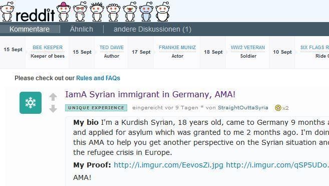"""Reddit-Fragestunde: """"Ich bin ein syrischer Immigrant in Deutschland, fragt mich alles, was ihr wissen wollt!"""""""