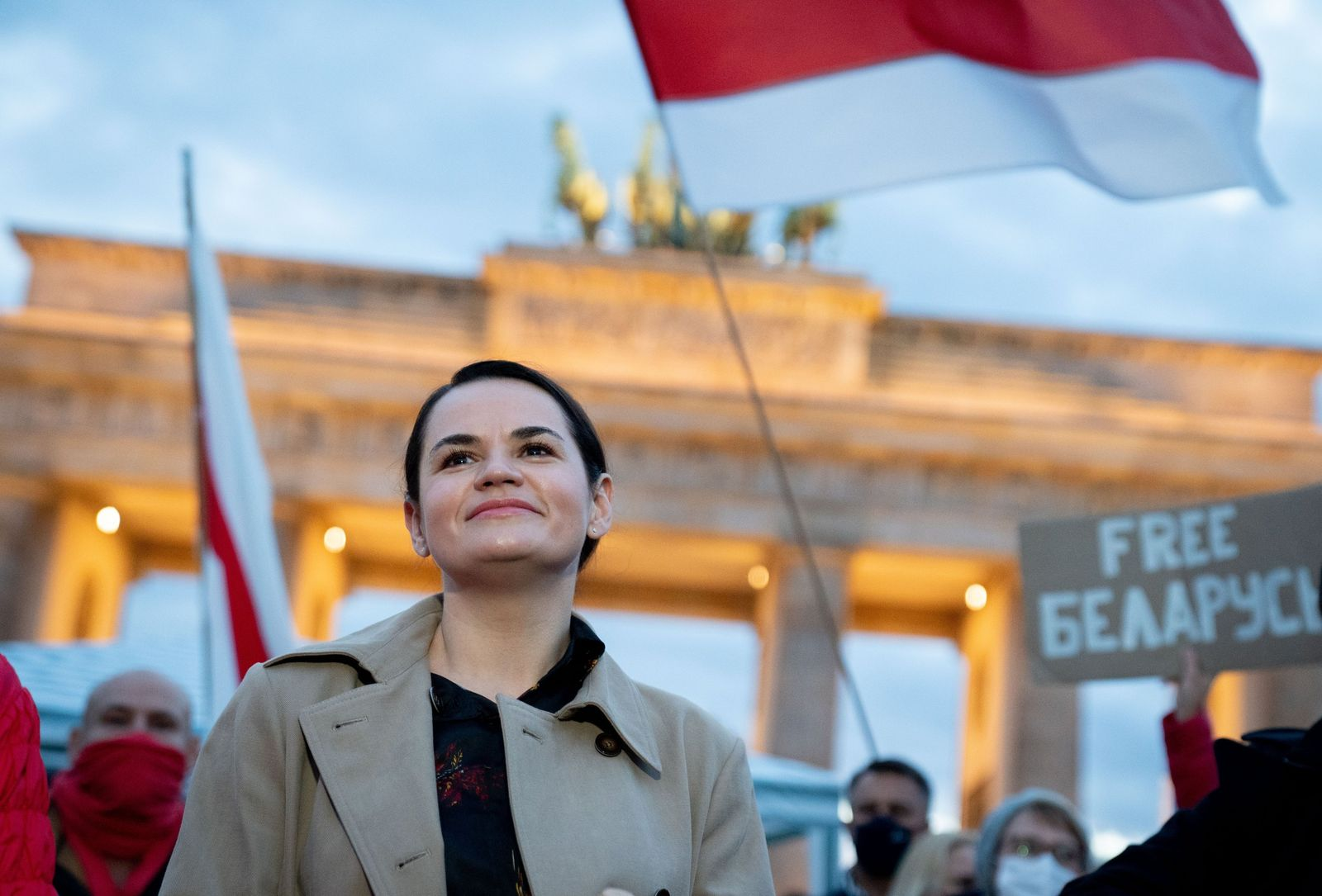 Belarussische Oppositionsführerin Tichanowskaja in Berlin