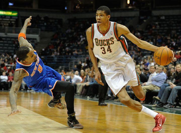 Antetokounmpo in seiner ersten NBA-Saison