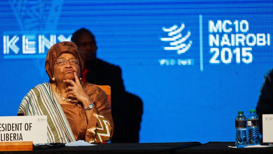 Präsidentin Ellen Johnson Sirleaf bei der 10. Welthandelskonferenz in Nairobi: Vereinbarungen im Agrarbereich scheinen möglich