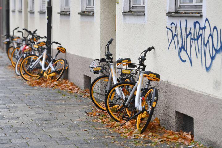 Obike in München - erste Anzeichen von Chaos