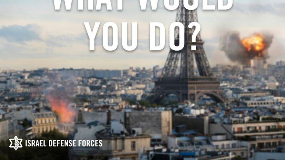 """Twitter-Motiv der israelischen Armee: """"Was würden Sie tun?"""""""