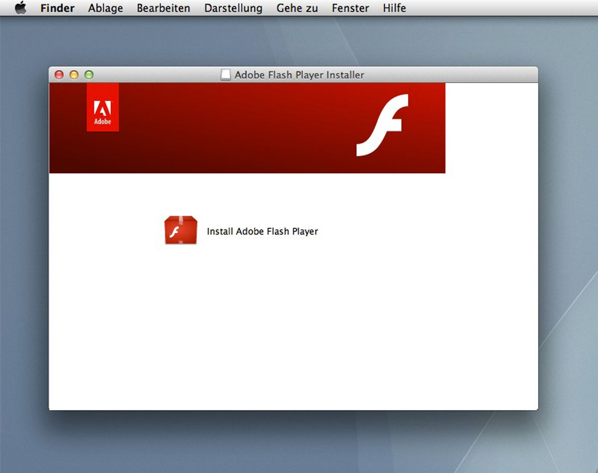 EINMALIGE VERWENDUNG Adobe Flashplayer SCREENSHOT