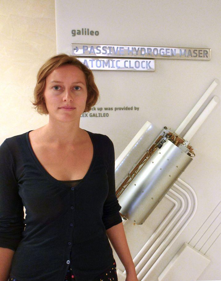 Anica Huck, 27, ist Geografin bei der Esa und jubelt mit den Kollegen über Raketenstarts