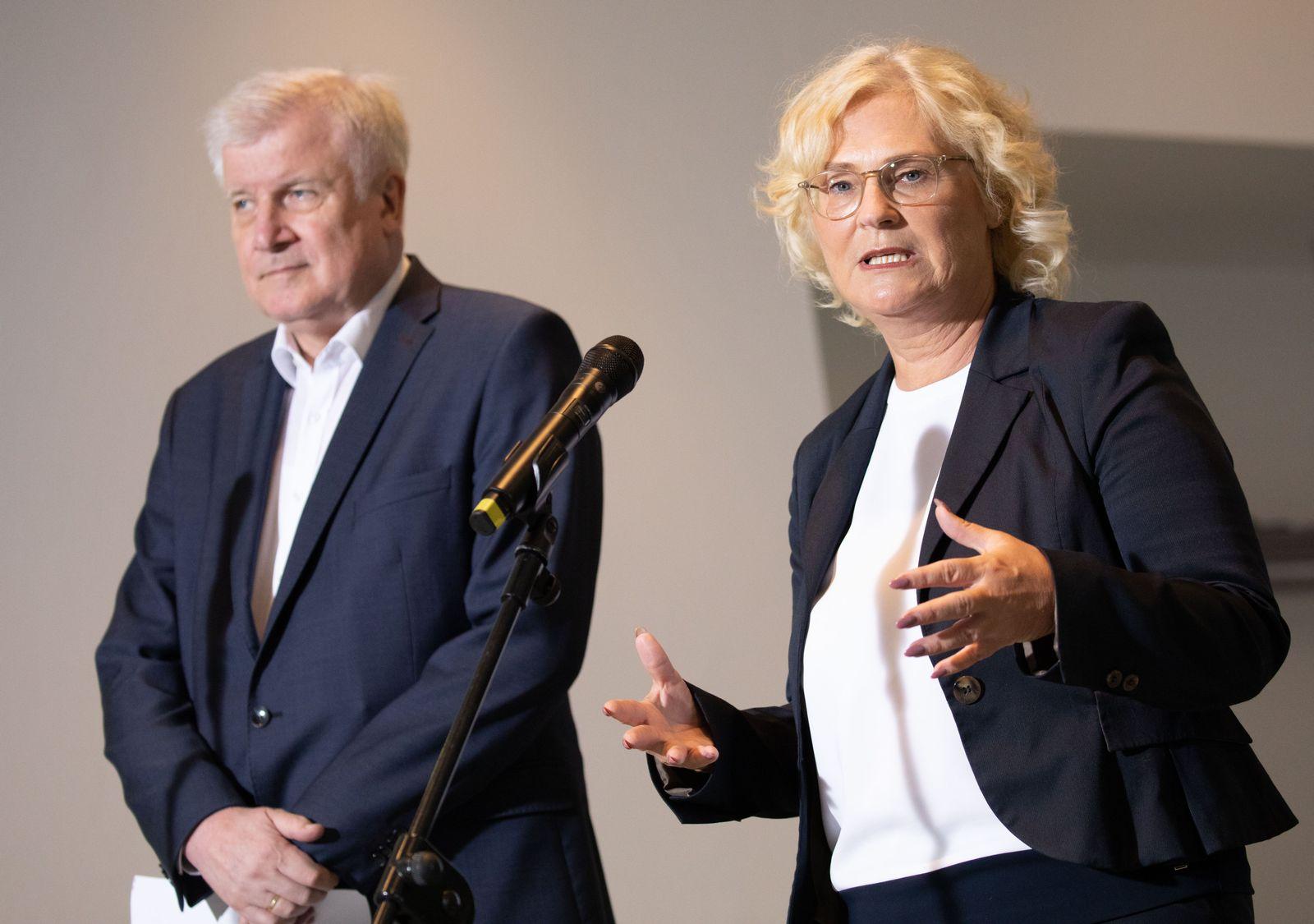 Lambrecht und Seehofer