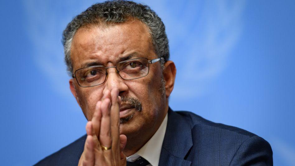 Kampf gegen Corona: Der Chef der Weltgesundheitsorganisation WHO, Tedros Adhanom Ghebreyesus, spricht von einem unfairen Rennen