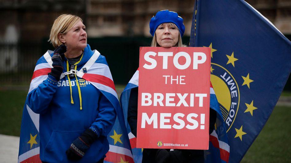 Anti-Brexit-Demonstrantinnen in London