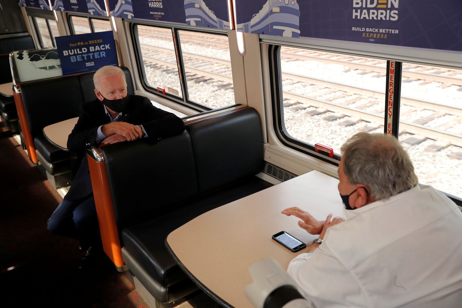 U.S. Democratic presidential candidate and former Vice President Joe Biden campaigns on train tour in Pennsylvania