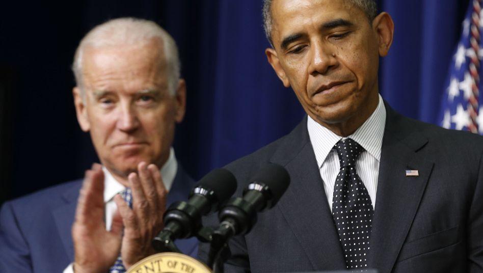 """Präsident Obama, Vize Biden: """"Nicht jedes Problem wie einen Nagel handhaben"""""""