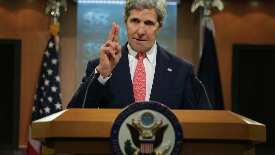 Ostukraine-Konflikt: Kerry wirft Russland Sabotage vor