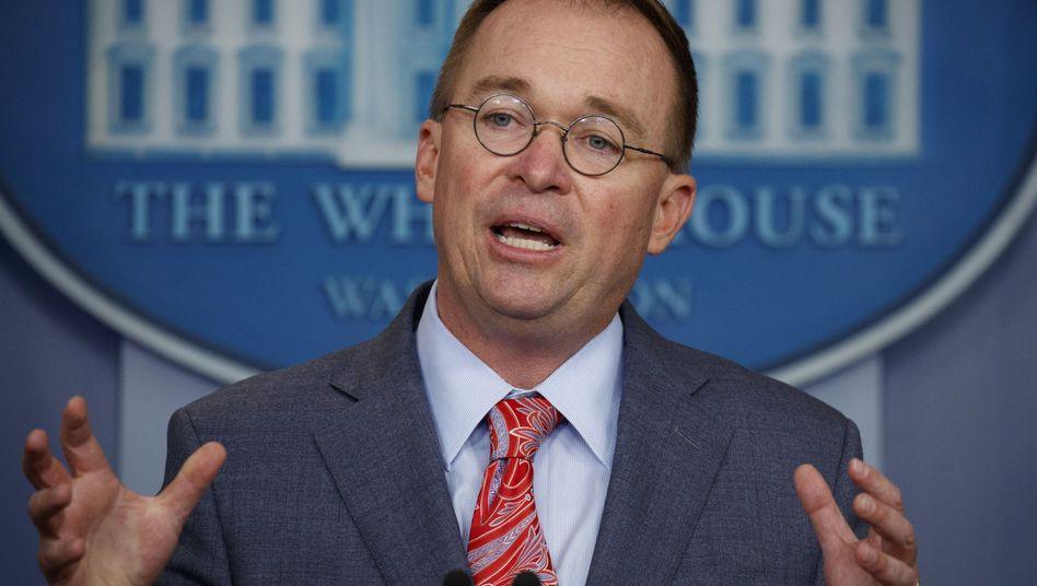 Stabschef des Weißen Hauses, Mick Mulvaney: Interessenkonflikt? Sieht er nicht