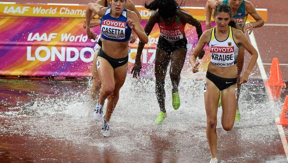 Gesa Krause (r.) im Finale über 3000 Meter Hindernis
