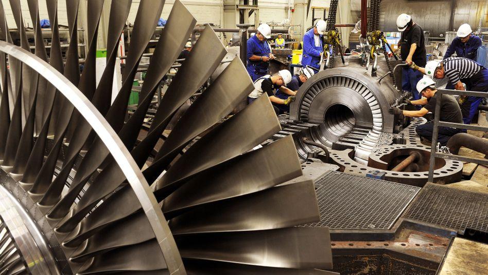 Kraftwerkstechniker in einem Steinkohlekraftwerk