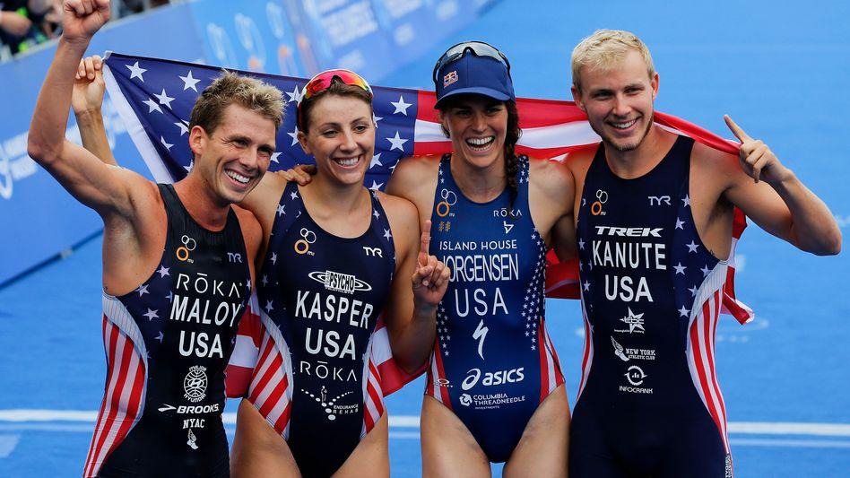 Triathlon-Mixed-Team der USA (in Hamburg)