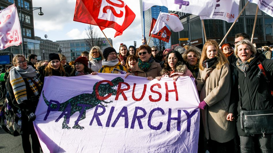 Demonstration am internationalen Frauentag