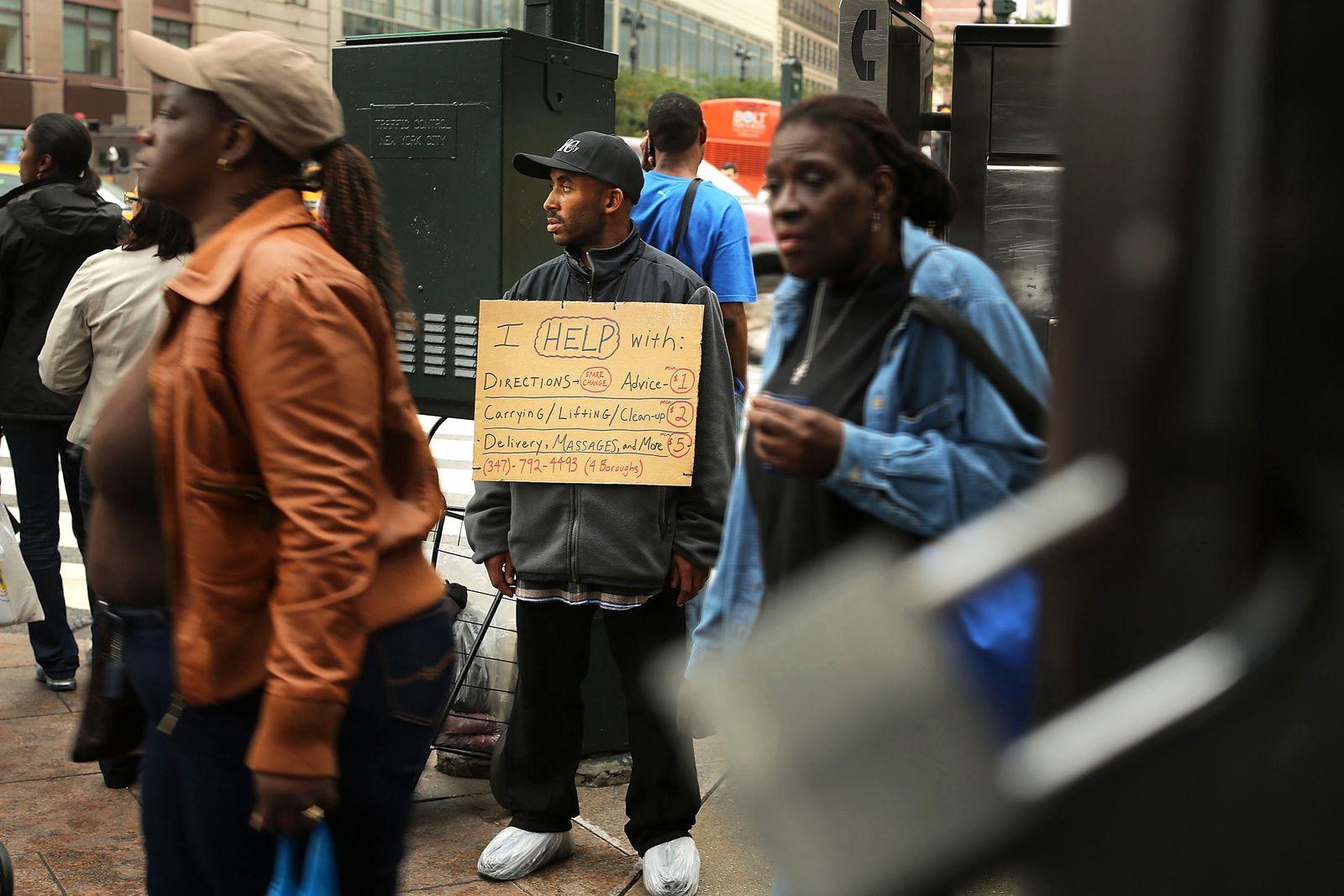 New York / Obdachlose / NYC Obdachlosigkeit / Armut / USA