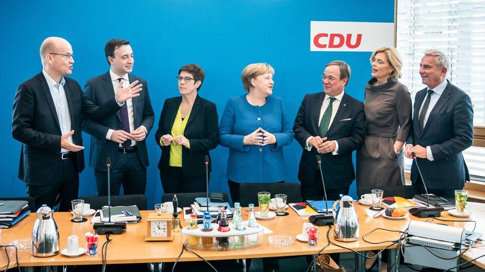 Vertreter der CDU-Spitze (hier im November 2019) haben sich auf eine Frauenquote geeinigt, Widerspruch kam unverzüglich