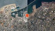 Satellitenbild zeigt Zerstörung nach dem großen Knall
