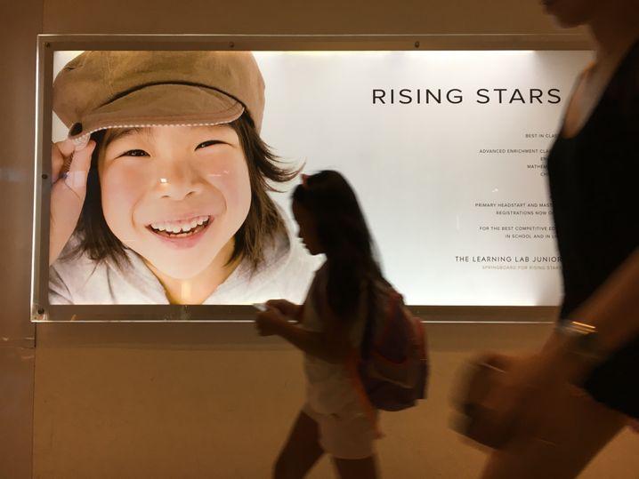 """Werbung des Singapurer Nachhilfe-Instituts """"Learning Lab"""""""