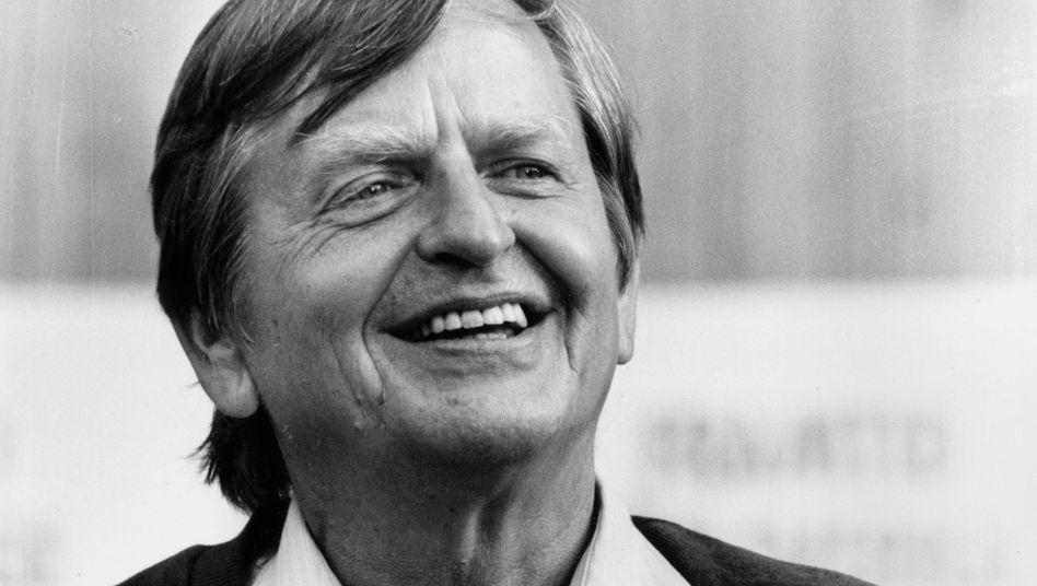 Olof Palme während seiner ersten Amtszeit als Premier 1975
