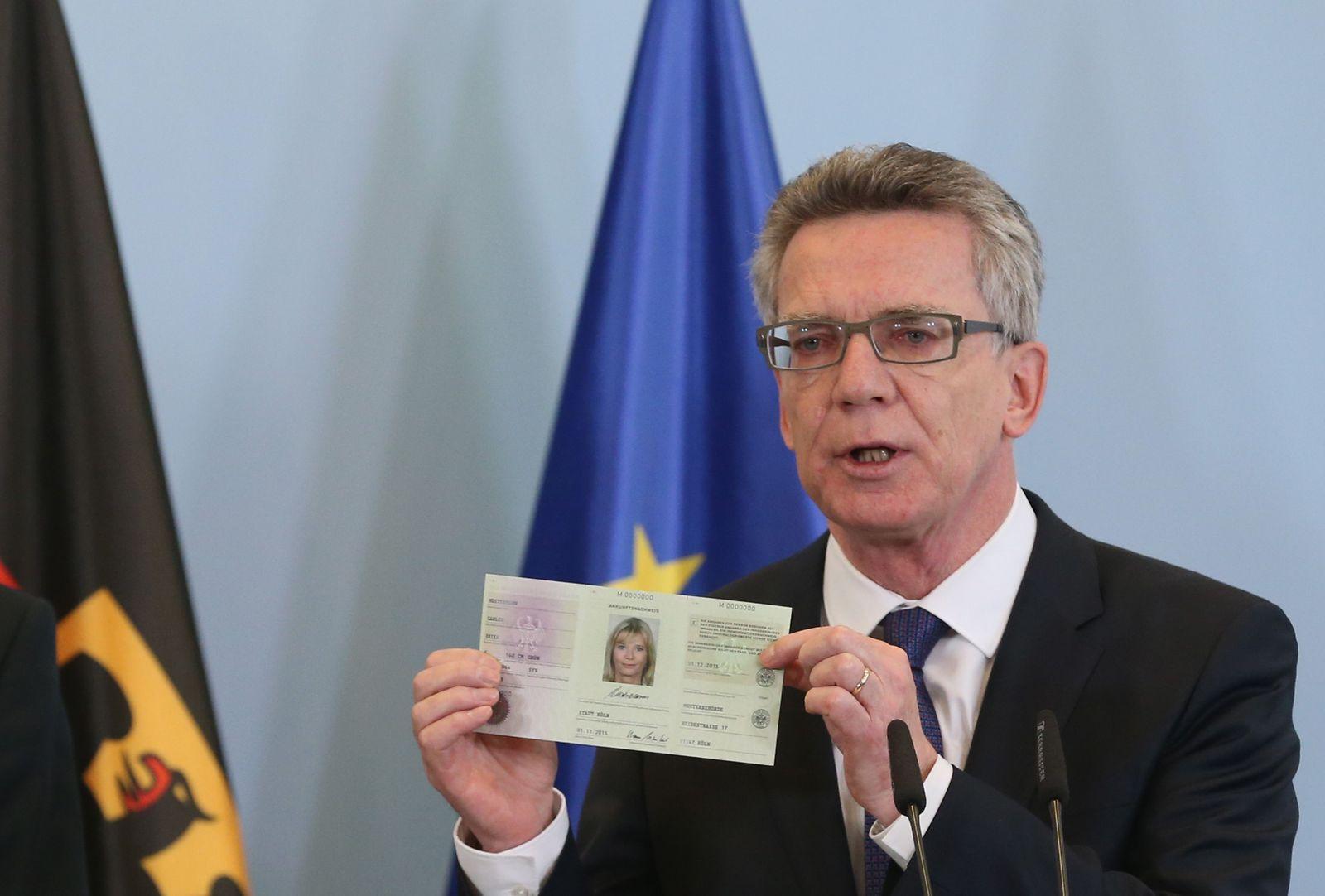 Flüchtlingsausweis de Maiziere