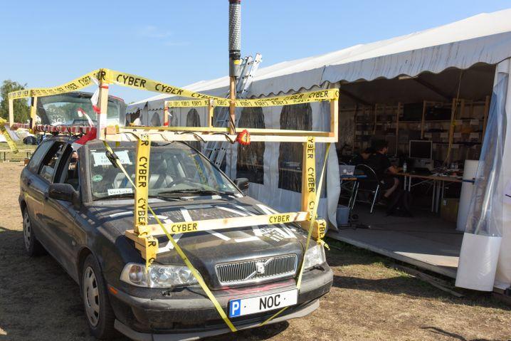 Besonderes Transportfahrzeug auf dem Chaos Communication Camp