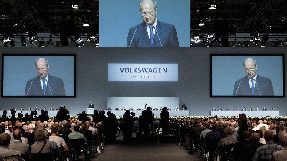 VW-Chefkontrolleur Pötsch auf der Hauptversammlung am 22. Juni in Hannover
