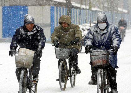 Wintereinbruch in Shenyang: In geheizten Wohnungen können die Chinesen jedoch erst ab Mitte November Zuflucht suchen.