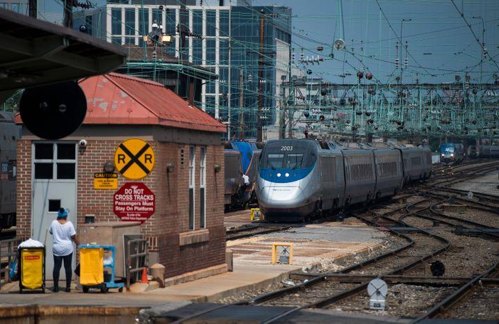 Amtrak Rail en Washington (en la foto desde 2015): el gobierno de Biden quiere invertir billion 80 mil millones para expandir la infraestructura ferroviaria