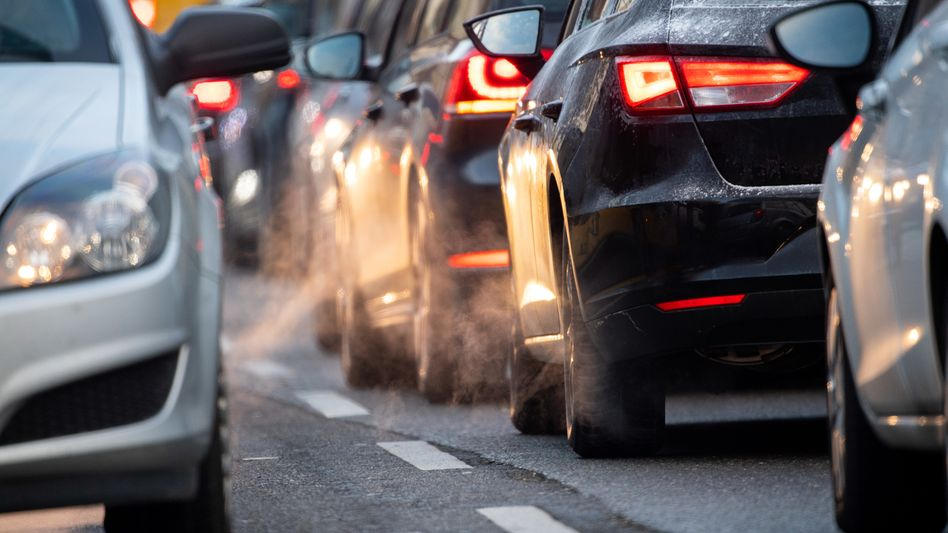 Autos stauen sich in Stuttgart