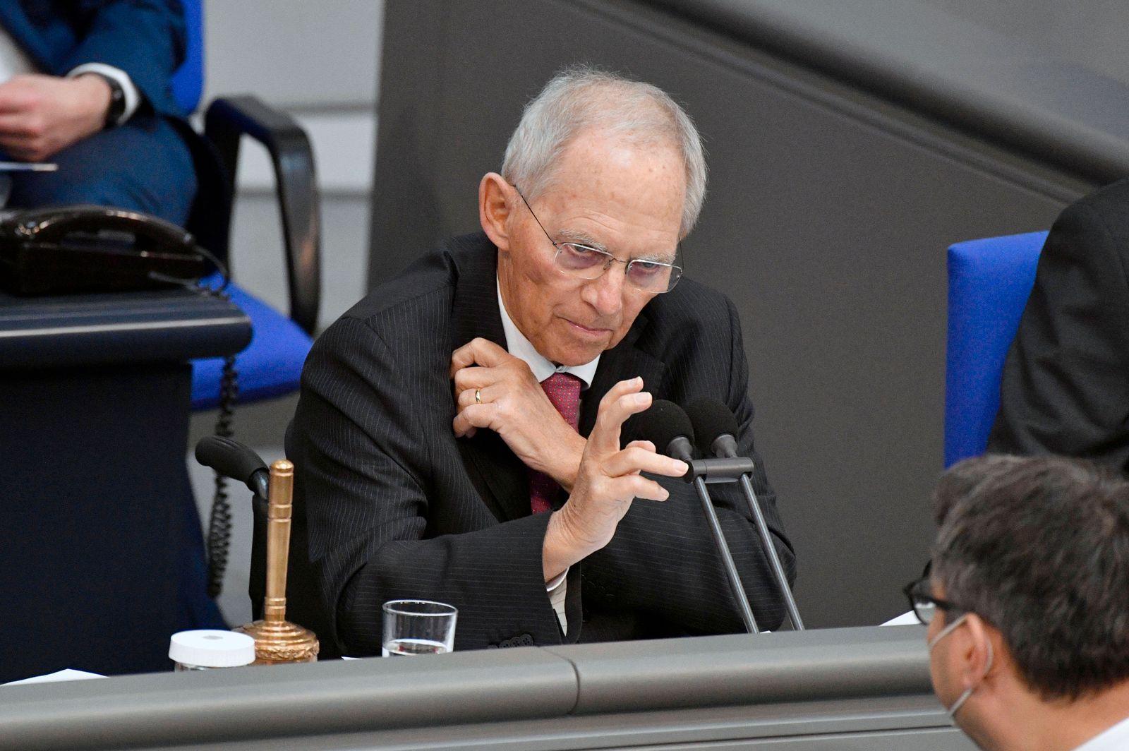 News Bilder des Tages Wolfgang Schäuble in der 221. Sitzung des Deutschen Bundestages im Reichstagsgebäude. Berlin, 15.0