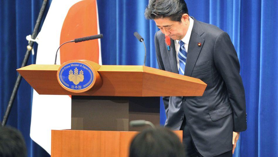 Japans Premierminister Shinzo Abe: Offen für Hilfe aus dem Ausland